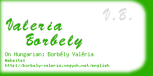 valeria borbely business card